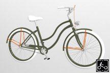 Egyedi-Noi-Luxury-Cruiser-bicikli-Olivazold-2