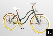 Egyedi-Noi-Luxury-Cruiser-bicikli-Olivazold-5