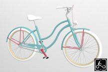 Egyedi-Noi-Luxury-Cruiser-bicikli-Turkiz-2
