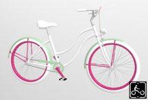 Egyedi-Noi-Luxury-Cruiser-bicikli-Feher
