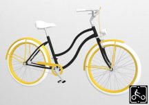 Egyedi-Noi-Luxury-Cruiser-bicikli-Fekete
