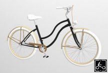 Egyedi-Noi-Luxury-Cruiser-bicikli-Fekete1