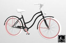 Egyedi-Noi-Luxury-Cruiser-bicikli-Fekete4