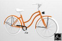 Egyedi-Noi-Luxury-Cruiser-bicikli-Narancs-2