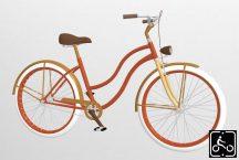 Egyedi-noi-Luxury-Cruiser-kerekpar-Narancs