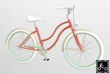 Egyedi-noi-Luxury-Cruiser-kerekpar-Narancs-1