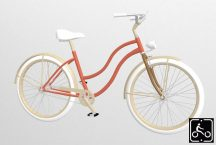 Egyedi-noi-Luxury-Cruiser-kerekpar-Narancs-