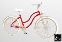 Egyedi-noi-Luxury-Cruiser-kerekpar-Piros