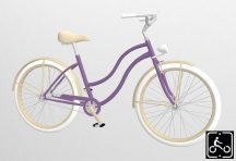Egyedi-Noi-Luxury-Cruiser-bicikli-Lila-1