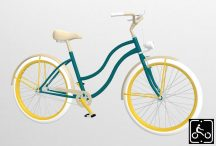 Egyedi-Noi-Luxury-Cruiser-bicikli-Fenyozold