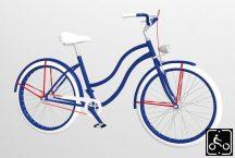 Egyedi-Noi-Luxury-Cruiser-bicikli-Kiralykek-1