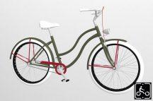 Egyedi-Noi-Luxury-Cruiser-bicikli-Olivazold-1