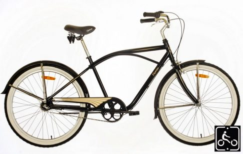 Caprine-Cruiser-agyváltós-férfi-kerékpár-Fekete