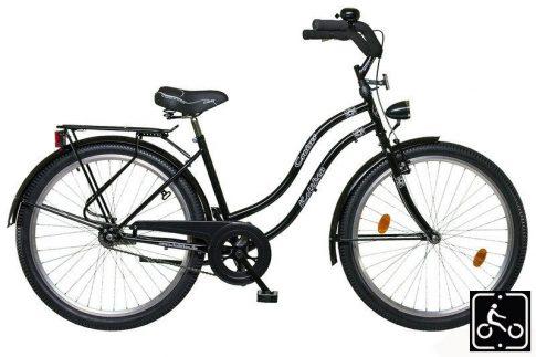 Koliken Cruiser Agyváltós Női kerékpár - fekete