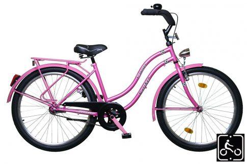 Koliken Cruiser Agyváltós Női kerékpár - rózsaszínben