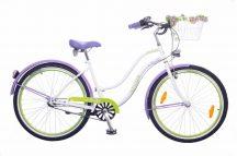Neuzer-Picnic-noi-cruiser-bicikli-feher/lila-zold