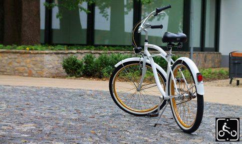 Egyedi Stray Cat Férfi Cruiser Kerékpár 1sp - Fehér-Arany