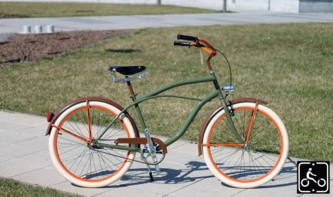 Egyedi Stray Cat Férfi Cruiser Kerékpár 1sp - Olajzold-Barna