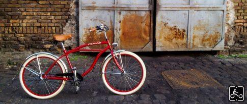Egyedi Stray Cat Férfi Cruiser Kerékpár 1sp - Bordó-Króm