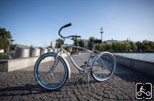 Egyedi Stray Cat Férfi Cruiser Kerékpár 1sp - Ezüst-Kék