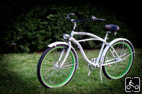 Egyedi Stray Cat Férfi Cruiser Kerékpár 1sp - Fehér-Zöld
