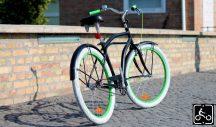 Egyedi Stray Cat Férfi Cruiser Kerékpár 1sp - Fekete-Zold