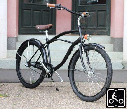 Egyedi Stray Cat Férfi Cruiser Kerékpár 1sp -Fekete