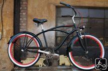 Egyedi Stray Cat Férfi Cruiser Kerékpár 1sp - Fekete-Piros