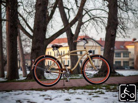 Egyedi Stray Cat Férfi Cruiser Kerékpár 1sp - Krém-Barna
