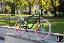 Egyedi Stray Cat Férfi Cruiser Kerékpár 1sp - Zöld-Narancs